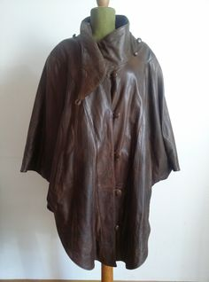 Ledercape, 80ies Raincoat, Vintage Fashion, Leather, Jackets, Gowns, Rain Jacket, Down Jackets, Fashion Vintage