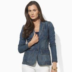 Great denim jacket by Ralph Lauren...great look.