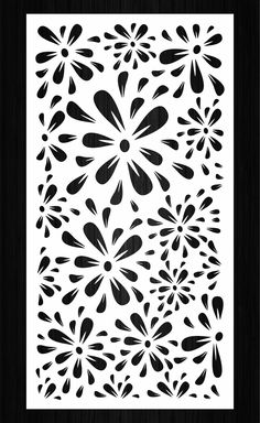 7 vector panels with a floral pattern for laser, plasma and CNC machine cutting. Living Room Partition Design, Room Partition Designs, Home Design Living Room, Laser Cut Patterns, Stencil Patterns, Stencil Designs, Laser Cut Screens, Laser Cut Panels, Autocad