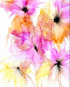 Alcohol ink painting,original abstract painting,unique and one of a kind art,alcohol ink art,florals Alcohol Ink Tiles, Alcohol Ink Painting, Art Floral, Jazz Art, Contemporary Abstract Art, Acrylic Art, Watercolor Flowers, Flower Art, Illustrations