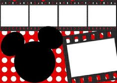 Molduras e convites inspirados em Minnie e Mickey - Amanhã é outro dia