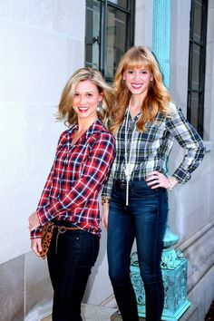 plaids & skinny jeans - all dressed up on Confessions of the Glitterati