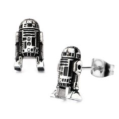 Star Wars: 3D R2D2 Stud Earrings 316 Stainless Steel