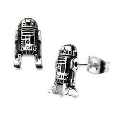 Star Wars: 3D R2D2 Stud Earrings 316 Stainless Steel