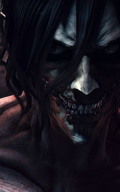 Eren Titan form || http://tetsuok9999.deviantart.com/art/rogue-Titan-and-Mikasa-447013538 [please do not remove this caption with the source]