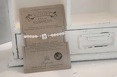 Snuggles-Cottage Shop Armbänder - Armband Lientje mit weißen Achat Perlen & B... - ein Designerstück von snuggles-cottage bei DaWanda
