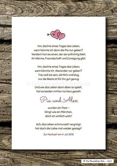 Charmant und originell: Dieses humorvolle Liebesgedicht wird ganz individuell f… Charming and original: This humorous love poem is individually adapted for the happy couple. A very nice and unusual gift idea for two very … – Wedding Gifts For Bride, Cute Wedding Dress, Bride Gifts, Wedding Favors, Party Favors, Diy Bracelets To Sell, Diy Jewelry To Sell, Love Poems Wedding, Amor Humor