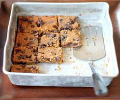 Ambitious Kitchen | Flourless Chocolate Chip Chickpea Blondies with Sea Salt {vegan, gluten-free & healthy}