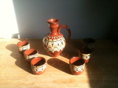 Terra Ritual Toasting Set by BulgarUSA on Etsy, $25.00