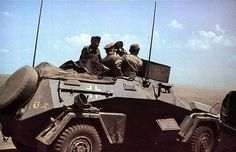 B of Panzer Division with Berlin bear and later yellow tripod symbol. Summer 1943 - most likely at Kursk. Command vehicle of reconnaissance and motorcycle units. Still in Panzer grey. Military Photos, Military History, Ww2 History, Afrika Corps, North African Campaign, Armored Vehicles, Armored Car, Armored Fighting Vehicle, Ww2 Tanks