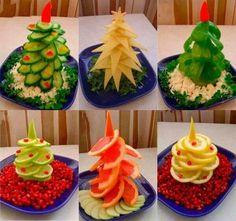 Para decorar tu mesa navideña con estos platos
