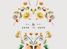 Save the date - floral design