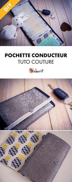Tuto Couture Gratuit - Pochette Conducteur via Makerist.fr
