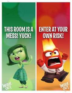 Show the world how you're feeling with these #InsideOut Headquarters door hangers!