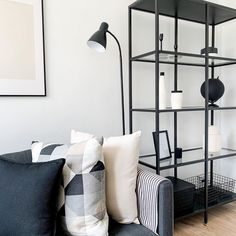 """CHARMAINE's Instagram profile post: """"• NEW ANGLE • The front room is finally coming together; still lots to do but I'm happy with the progress. . Who else had been using their…"""" Come Together, Being Used, Angles, Monochrome, Profile, Shelves, Living Room, Happy, Modern"""