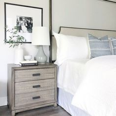 white and black neutral master bedroom decor Dream Bedroom, Home Bedroom, Bedroom Furniture, Master Bedroom, Bedroom Decor, Bedrooms, Furniture Dolly, Casa Feng Shui, Suites