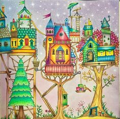 Houses enchanted forest
