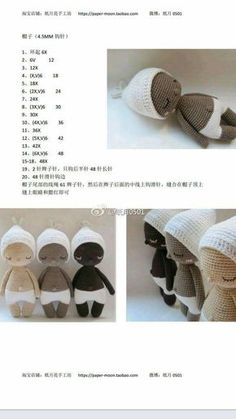 Baby Hoki 3 Crochet Fairy, Diy Crochet, Crochet Crafts, Crochet Projects, Crochet Baby Toys, Crochet Amigurumi, Amigurumi Doll, Crochet Stitches Patterns, Amigurumi Patterns