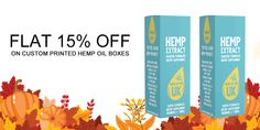 Get Flat 15% Discount till Thanksgiving Day on Custom Hemp Oil Boxes. With Free Shipping and Free Design Support. For more info: Call: 888-851-0765 Email: support@thecustompackaging.com
