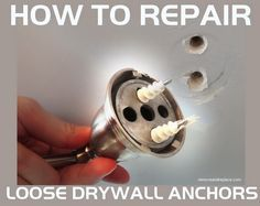 How Do I Repair A Loose Wall Anchor That Has Fallen Out Of Drywall Or Wood?