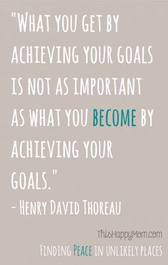 If achieving a goal is part of BECOMING, then overcoming barriers to my goals is part of how achieving my goals transforms me.  That's a fancy way of saying it isn't always the destination, sometimes it's the journey.