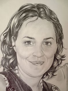 Retrato de pareja para regalo de bodas (detalle) / Pencil portrait for wedding presen (detail)