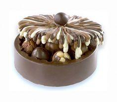 Caixa de chocolates feita de chocolate