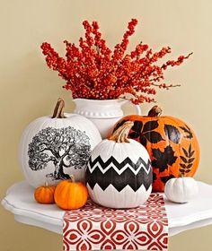 Pretty Tissue Paper Pumpkins - Mod Podge