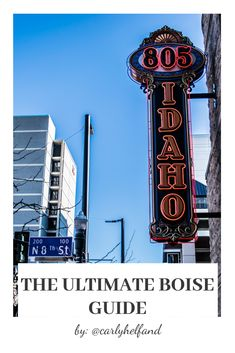 The Ultimate Boise, Idaho Guide and more! Boise River, Boise Idaho, Boise City, Wine And Beer, Weekend Getaways, Travel Guide, The Incredibles, Travel Guide Books