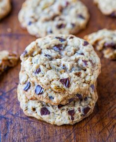 Slice and Bake Oatmeal Chocolate Chip Cookies Averie Cooks » Oats and Oatmeal Recipes