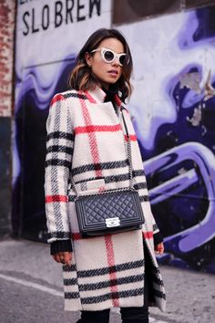 If you've already got the solid coat need covered - go plaid!  from VivaLuxury blog