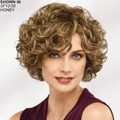 Brit WhisperLite® Wig by Paula Young® - Paula Young Perruque Brit WhisperLite® de Paula Young® - Pau Curly Hair Styles, Curly Hair Cuts, Curly Wigs, Wig Styles, Short Curly Hair, Wavy Hair, Short Hair Cuts, Natural Hair Styles, Short Curls