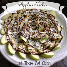 Apple nachos! Can use Nutella, chocolate, Carmel source, butterscotch, whatever you fancy!