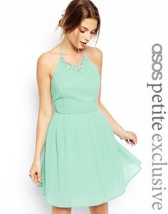 ASOS PETITE Prom Dress with Necklace Detail