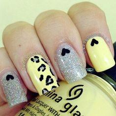 Lemonade glitz #nail #unhas #unha #nails #unhasdecoradas #nailart #gorgeous #fashion #stylish #lindo #cool #cute #fofo #oncinha #leopard #heart #coracao