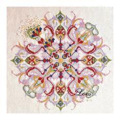 Counted Cross-Stitch Pattern Mandala by LoesManfredCreations...