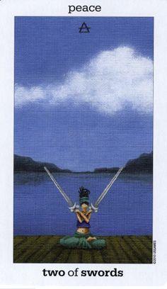 2 of Swords - Sun and Moon Tarot