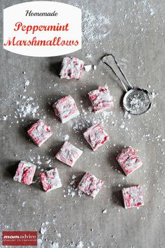 Homemade Peppermint Marshmallows from MomAdvice.com.