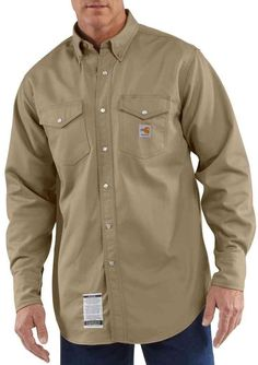 95d039d2b41 It doesn t get better than the Carhartt Men s Flame-Resistant Snap-Front  Twill Shirt.