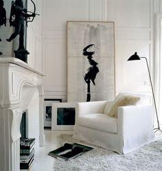 interesting  #livingroom  interior design, sofas, flooring, ceiling, lighting, rugs, coffee tables, art in the living room #decorating loft wallpaper