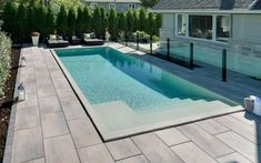 Have you rejuvenated your pool deck for summer? It's not too late and Techo-Bloc pavers and slabs work well over Silca grates. Swimming Pools Backyard, Pool Decks, Backyard Landscaping, Backyard Ideas, Backyard Patio, Patio Ideas, Landscaping Ideas, Large Concrete Pavers, Hawaiian Homes