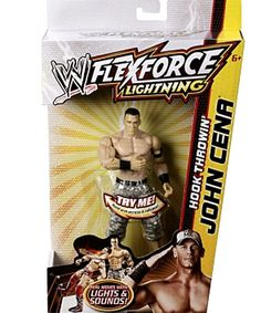 WWE FleXforce Lightning Hook ThroWin' John Cena - CookiesKids.com. Light up the action With this WWE John Cena action figure! Hold Cena's arm back to charge him up, and release to deliVer a lightning hook!
