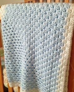 Crochet a Little Boy Blue Blanket - free pattern, from Craftown.