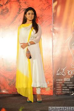 """Nayanthara is not only known for her looks, she is one of the best dressed actress. Here is a list of """"Top 11 Anarkali Looks by Nayanthara"""". Long Dress Design, Stylish Dress Designs, Stylish Dresses, Fashion Dresses, Fashion Top, Party Wear Indian Dresses, Indian Gowns Dresses, Dress Indian Style, Churidar Designs"""