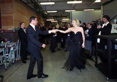 John Travolta and Sharon Stone - Oscars 2002
