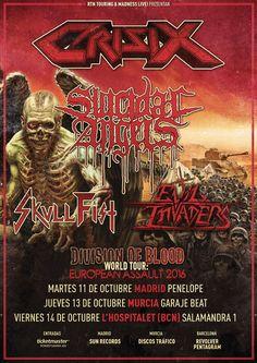 [GIRAS Y CONCIERTOS] El mejor Thrash Metal en octubre de la mano de CRISIX, SUICIDAL ANGELS, SKULL FIST y EVIL INVADERS (Madness Live!)