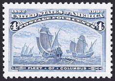 United States Scott #2624b (22 May 1992) Fleet of Columbus.