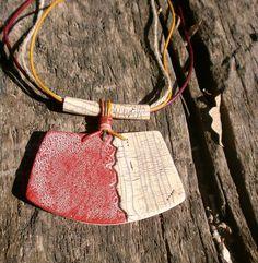 PaQUEluzcas polymer clay pendant