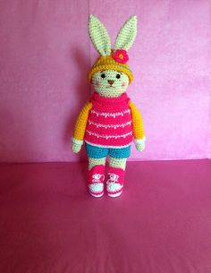 Crochet Bunny Crochet toy Gift for daughter by HouseInspiration