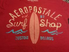 ~ Aeropostale Juniors Rhinestone Magenta Pink Beach Tee Shirt Top ~ Size M ~EUC